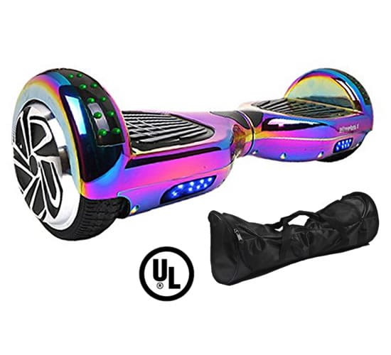 Rainbow Chrome New X6 Bluetooth Hoverboard Official Hoverboards Com