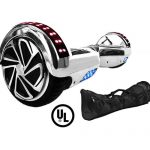 x6 silver chrome hoverboard bluetooth